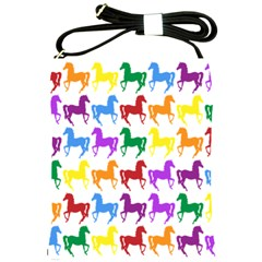 Colorful Horse Background Wallpaper Shoulder Sling Bags