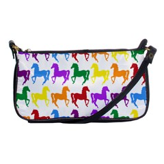 Colorful Horse Background Wallpaper Shoulder Clutch Bags