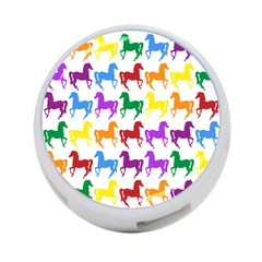 Colorful Horse Background Wallpaper 4 Port Usb Hub (two Sides)