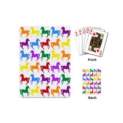Colorful Horse Background Wallpaper Playing Cards (mini)