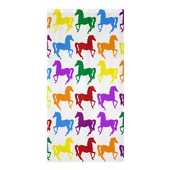 Colorful Horse Background Wallpaper Shower Curtain 36  X 72  (stall)