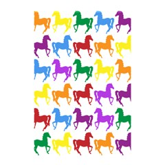 Colorful Horse Background Wallpaper Shower Curtain 48  X 72  (small)