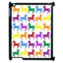 Colorful Horse Background Wallpaper Apple Ipad 2 Case (black)