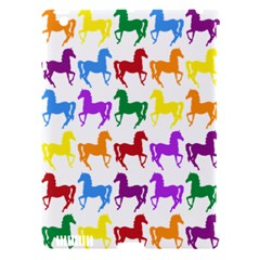 Colorful Horse Background Wallpaper Apple Ipad 3/4 Hardshell Case (compatible With Smart Cover)