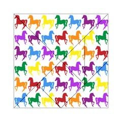 Colorful Horse Background Wallpaper Acrylic Tangram Puzzle (6  X 6 )