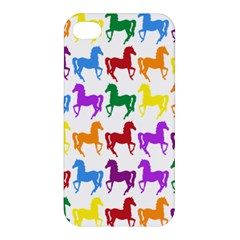 Colorful Horse Background Wallpaper Apple Iphone 4/4s Premium Hardshell Case