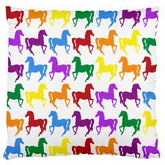 Colorful Horse Background Wallpaper Large Cushion Case (two Sides)
