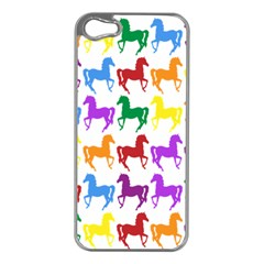 Colorful Horse Background Wallpaper Apple Iphone 5 Case (silver)