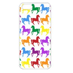 Colorful Horse Background Wallpaper Apple iPhone 5 Seamless Case (White)