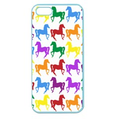 Colorful Horse Background Wallpaper Apple Seamless Iphone 5 Case (color)