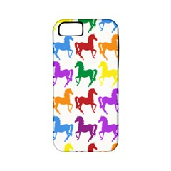 Colorful Horse Background Wallpaper Apple Iphone 5 Classic Hardshell Case (pc+silicone)