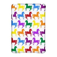 Colorful Horse Background Wallpaper Apple Ipad Mini Hardshell Case (compatible With Smart Cover)