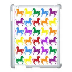 Colorful Horse Background Wallpaper Apple Ipad 3/4 Case (white)
