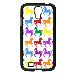 Colorful Horse Background Wallpaper Samsung Galaxy S4 I9500/ I9505 Case (black)