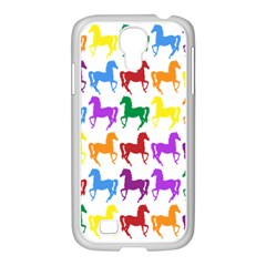Colorful Horse Background Wallpaper Samsung GALAXY S4 I9500/ I9505 Case (White)