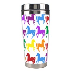 Colorful Horse Background Wallpaper Stainless Steel Travel Tumblers