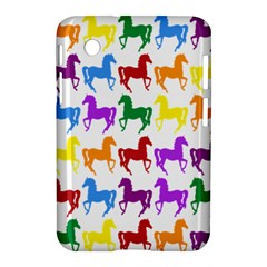 Colorful Horse Background Wallpaper Samsung Galaxy Tab 2 (7 ) P3100 Hardshell Case