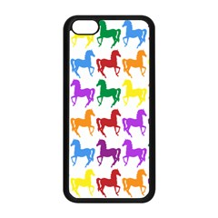Colorful Horse Background Wallpaper Apple Iphone 5c Seamless Case (black)