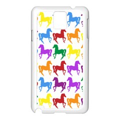 Colorful Horse Background Wallpaper Samsung Galaxy Note 3 N9005 Case (white)