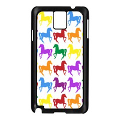 Colorful Horse Background Wallpaper Samsung Galaxy Note 3 N9005 Case (black)