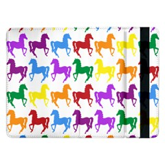 Colorful Horse Background Wallpaper Samsung Galaxy Tab Pro 12 2  Flip Case