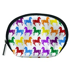 Colorful Horse Background Wallpaper Accessory Pouches (medium)