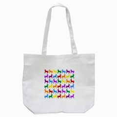 Colorful Horse Background Wallpaper Tote Bag (white)