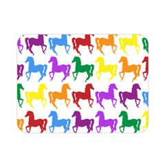 Colorful Horse Background Wallpaper Double Sided Flano Blanket (mini)