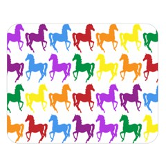 Colorful Horse Background Wallpaper Double Sided Flano Blanket (Large)