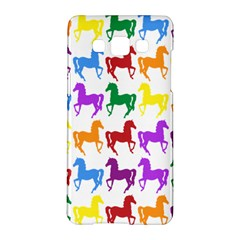 Colorful Horse Background Wallpaper Samsung Galaxy A5 Hardshell Case