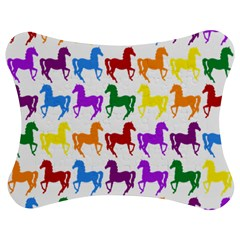 Colorful Horse Background Wallpaper Jigsaw Puzzle Photo Stand (Bow)