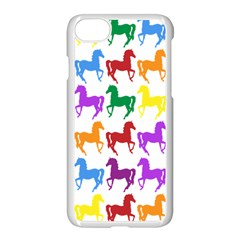 Colorful Horse Background Wallpaper Apple Iphone 7 Seamless Case (white)