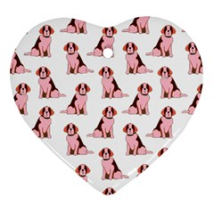 Dog Animal Pattern Ornament (Heart)