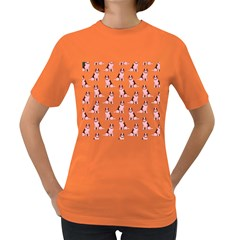Dog Animal Pattern Women s Dark T-Shirt