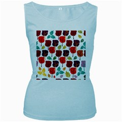 Tree Pattern Background Women s Baby Blue Tank Top