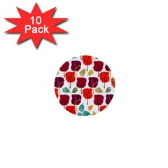 Tree Pattern Background 1  Mini Buttons (10 Pack)