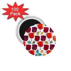 Tree Pattern Background 1 75  Magnets (100 Pack)
