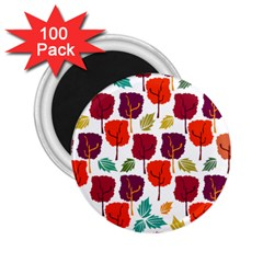 Tree Pattern Background 2 25  Magnets (100 Pack)