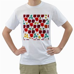 Tree Pattern Background Men s T-Shirt (White) (Two Sided)