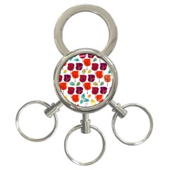 Tree Pattern Background 3-Ring Key Chains