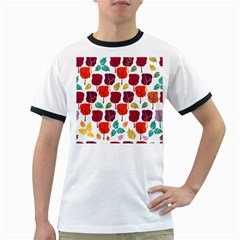 Tree Pattern Background Ringer T Shirts