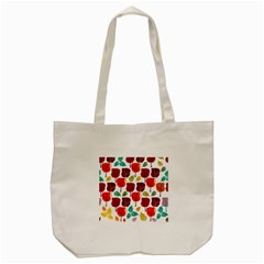 Tree Pattern Background Tote Bag (cream)