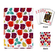 Tree Pattern Background Playing Card