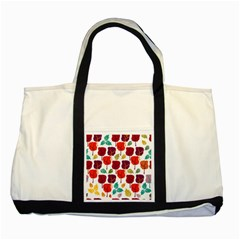 Tree Pattern Background Two Tone Tote Bag