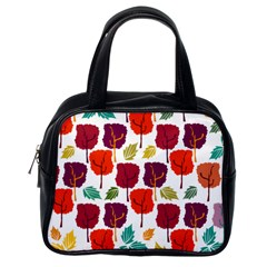 Tree Pattern Background Classic Handbags (one Side)