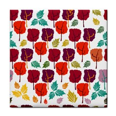 Tree Pattern Background Face Towel