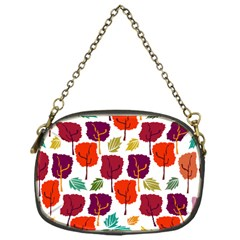 Tree Pattern Background Chain Purses (one Side)