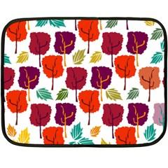 Tree Pattern Background Fleece Blanket (Mini)