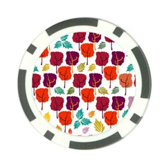 Tree Pattern Background Poker Chip Card Guard (10 Pack)