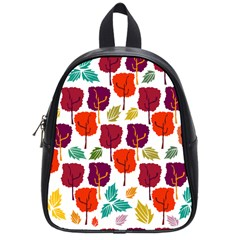 Tree Pattern Background School Bags (small)